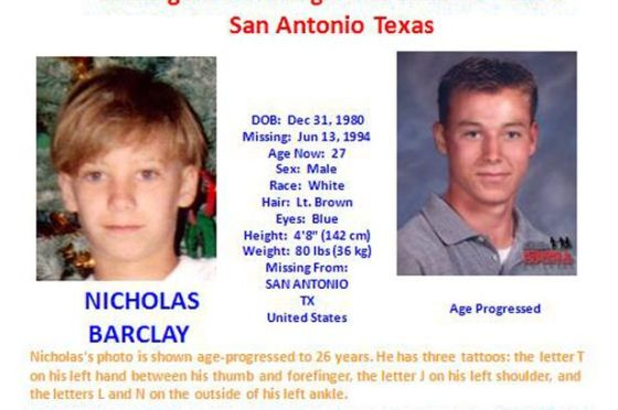 Missing poster-Nicholas Barclay-946271