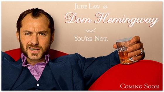 un nouveau poster avec jude law qui est Dom Hemingway pour 2014 au cinéma 5120x2880